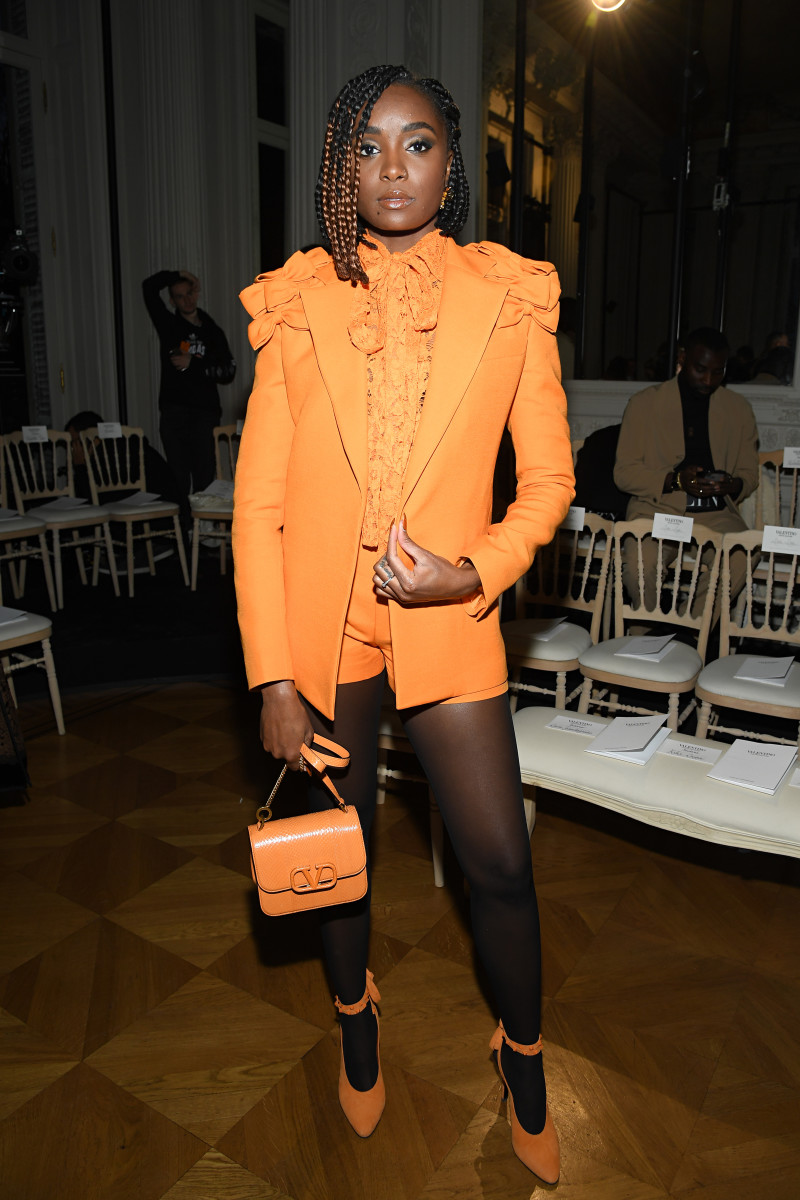 Kiki Layne attends the Valentino Haute Couture Spring:Summer 2020 show