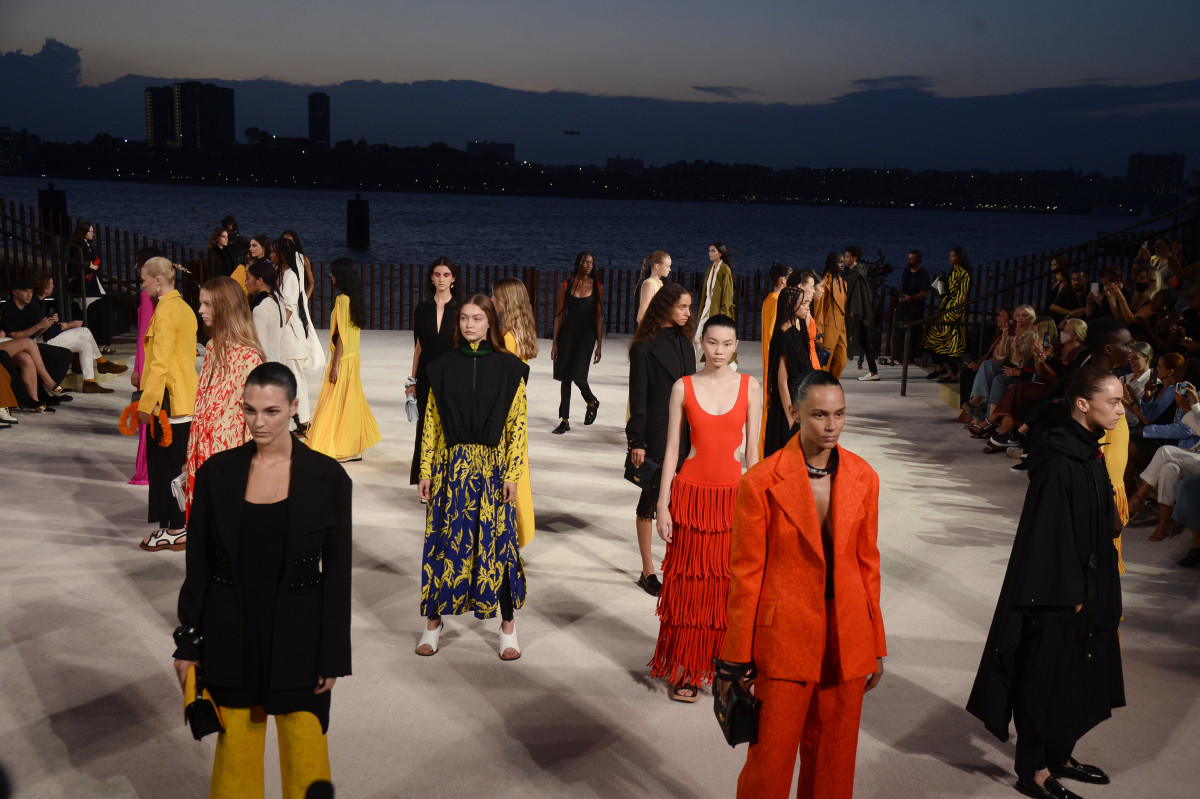 Looks from Proenza Schouler's Spring 2022 collection.