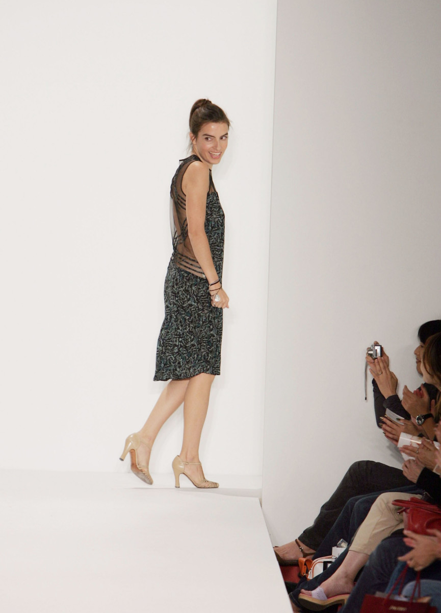 Rachel Comey at her Spring 2005 show at Bryant Park.