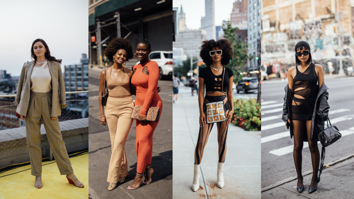 On the street at New York Fashion Week Spring 2022.