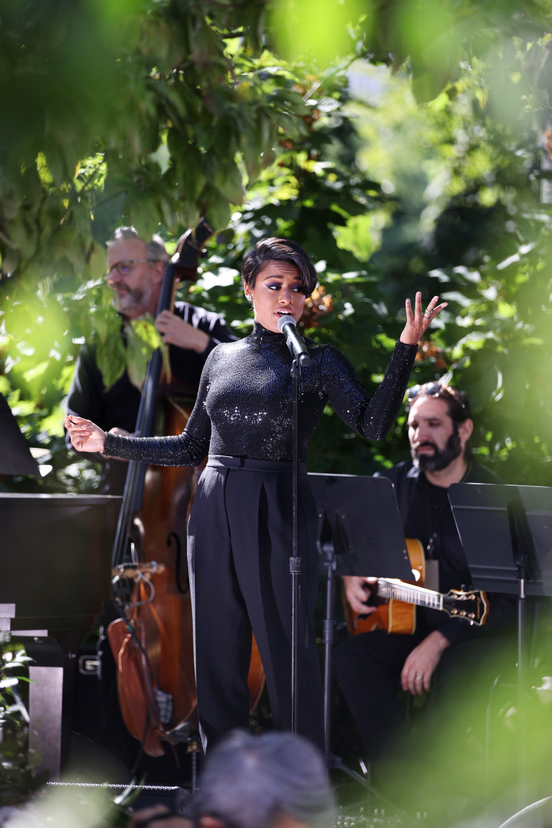Ariana DeBose performs at the SP22 Michael Kors Collection Runway Show