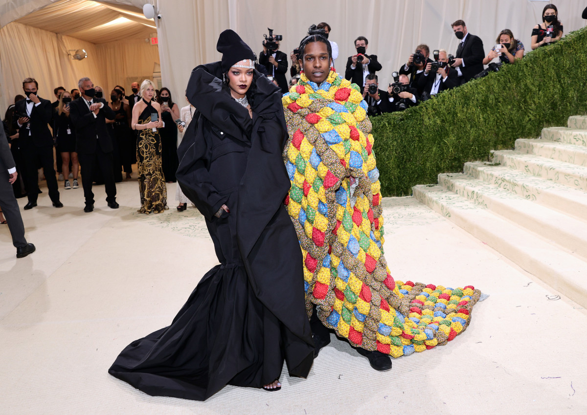 Rihanna and A$AP Rocky attend The 2021 Met Gala