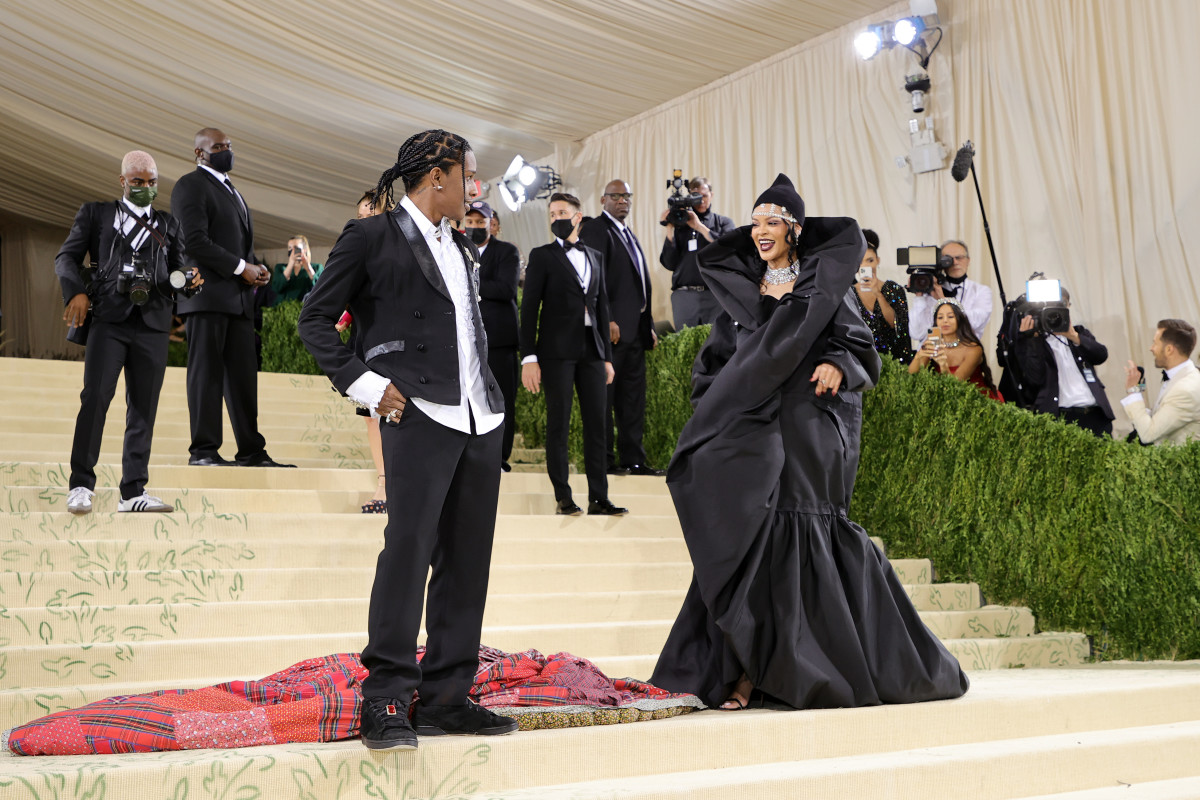 ASAP Rocky and Rihanna attend The 2021 Met Gala1